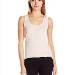 solid knit tank top with a scoop neck-line